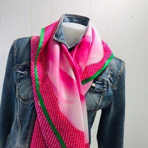 """Talbots 36"""" Silk Scarf Pink"""